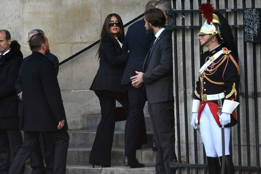 Accompagné de sa femme, l'actrice Salma Hayek.