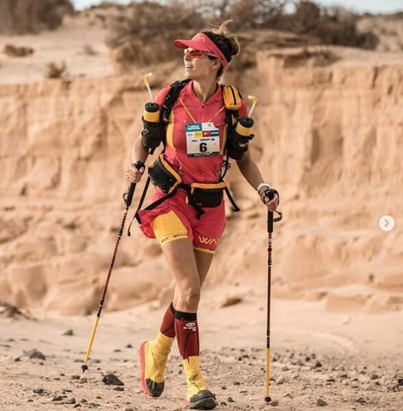 Quelle sportive, Laury Thilleman. Respect !