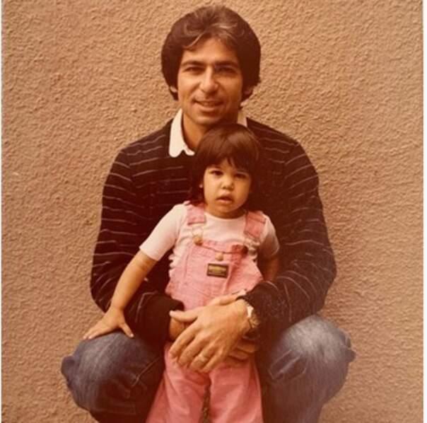 Kourtney et son papa