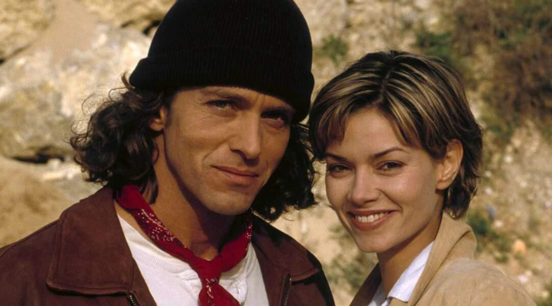 En 2001, pour la saga Méditerranée, elle a sacrifié sa longue chevelure. Ici, avec Laurent Hennequin…