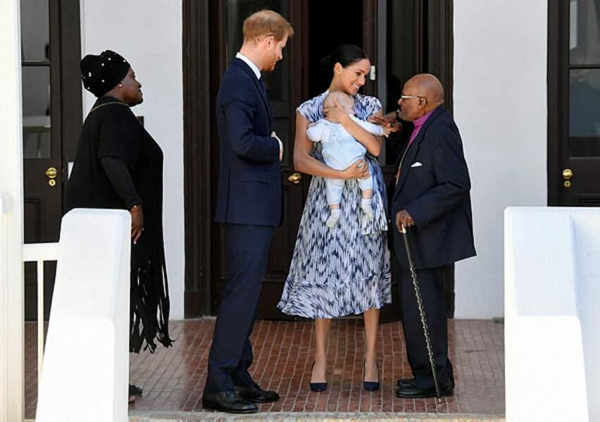 Meghan et Harry sont visiblement heureux de s'être entretenus avec une légende de l'anti-apartheid