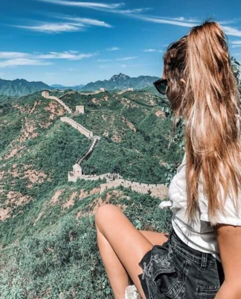 Vue imprenable sur la grande muraille de Chine