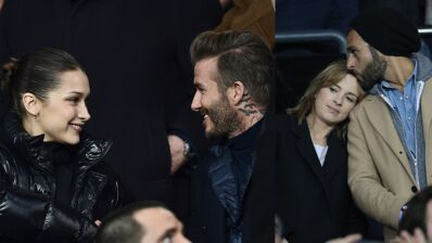 PSG/Real Madrid : David Beckham, Bella Hadid, Isabelle Ithurburu et Maxim Nucci... du beau monde au Parc des Princes (13 PHOTOS)