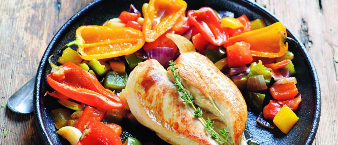 Poulet aux poivrons une recette ensoleill e sign e - Dernier livre de cuisine de laurent mariotte ...