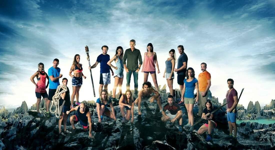 La photo officielle des 18 aventuriers de Koh-Lanta : le combat des héros
