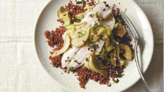 Le bar au quinoa rouge, fenouil et courgettes : notre recette saine et facile
