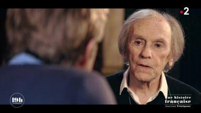 """Avec émotion, Jean-Louis Trintignant évoque la mort de sa fille """"Je n'arrive pas à m'en remettre"""" (VIDEO)"""