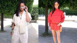 Fashion Week : Rihanna en survet trop grand, Bella Hadid en midi short au défilé Louis Vuitton (PHOTOS)