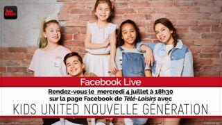 Facebook Live : posez vos questions en vidéo aux Kids United Nouvelle Génération