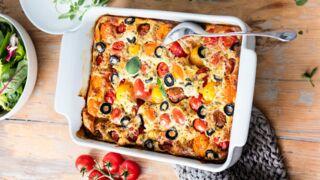 Clafoutis de tomates cerises aux olives et à l'origan : une recette rapide ensoleillée