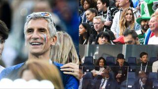 France-Belgique : Mick Jagger attentif, Nagui enthousiaste, Charlotte Pirroni ravissante, JoeyStarr avec un étonnant maillot... Regardez les réactions des stars dans les tribunes (PHOTOS)