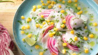 Ceviche de cabillaud au maïs : la recette originale à base de poisson