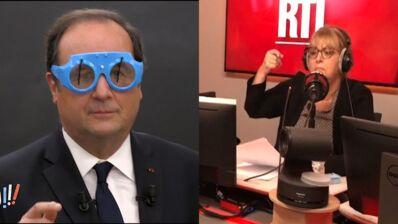Francois Hollande embarrassé par le cadeau d'écoliers, Caroline Diament et son incompréhension du foot... Le zapping malaise (VIDEO)