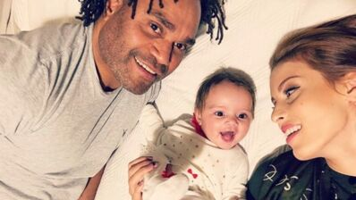 Christian Karembeu et sa compagne posent avec leur fille pour ses 1 an (PHOTOS)