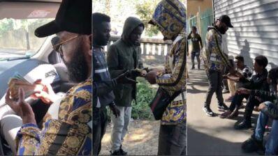 Kaaris se filme en train de distribuer des liasses de billets à des sans-abri... Gênant (VIDEO)
