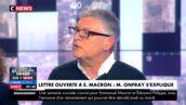 """""""C'est fait pour choquer"""" : Michel Onfray assume sa """"lettre à Manu"""" jugée homophobe dans L'heure des pros (VIDEO)"""