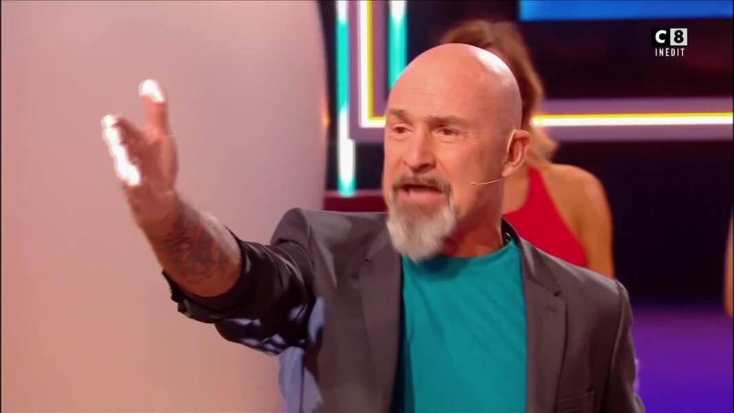 Vincent Lagaf' a le bras recouvert de tatouages