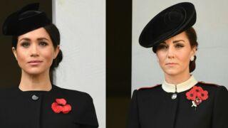 Kate Middleton adoubée par la reine Elizabeth II, Meghan Markle isolée lors des célébrations de l'Armistice par la famille royale (PHOTOS)