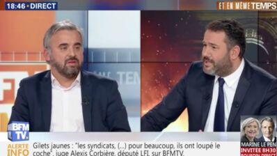 """Gilets jaunes : Bruce Toussaint recadre sèchement Alexis Corbière sur BFMTV, et lui reproche """"d'attiser la haine contre les journalistes"""" (VIDEO)"""