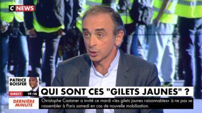 En plein débat sur les gilets jaunes, Éric Zemmour dérape sur la manifestation contre les violences faites aux femmes (VIDEO)