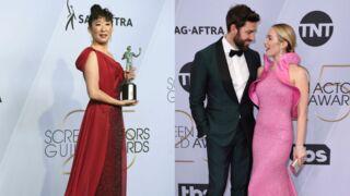 SAG AWARDS 2019 : Sandra Oh, Emily Blunt, Lady Gaga…Les stars s'éclatent sur le tapis rouge (PHOTOS)