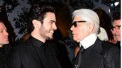 """""""C'était un père pour moi"""" : Baptiste Giabiconi rend un hommage ému à son ami Karl Lagerfeld, sur RTL (VIDEO)"""