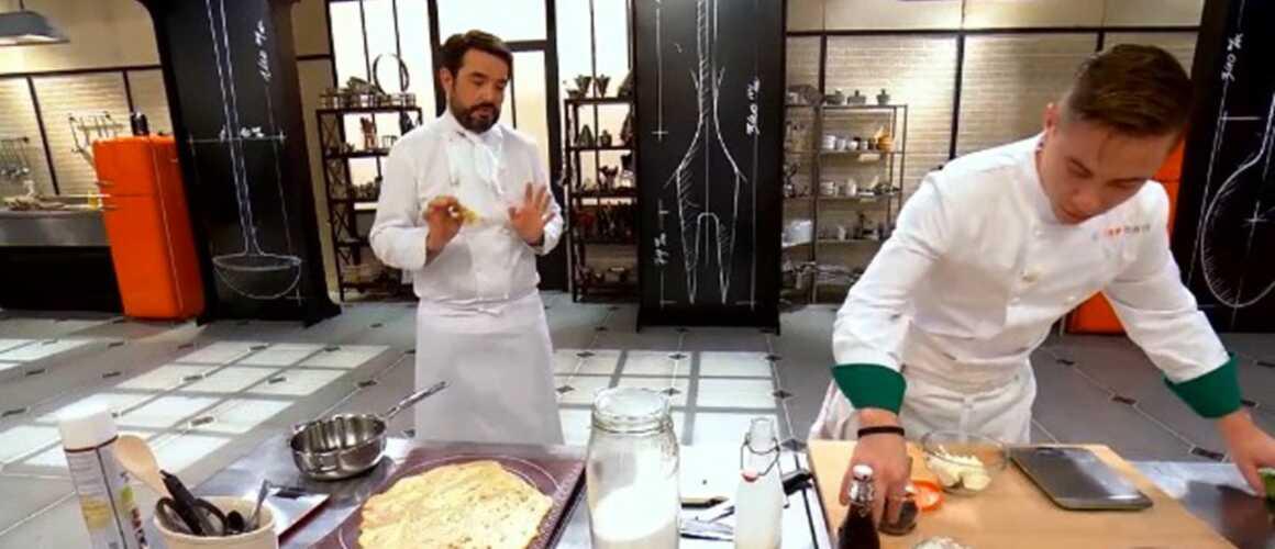 Exclu. Top Chef 10 : Baptiste se met à chantonner… Alors que Jean-François Piège le reprend sur sa recette !