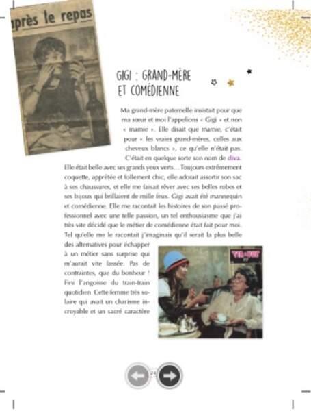 Elle y parle aussi de Gigi, sa grand-mère artiste...