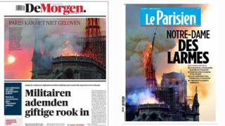 Incendie à Notre-Dame de Paris : les journaux du monde entier consacrent leur une à la tragédie (PHOTOS)