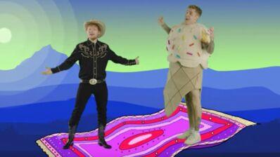 Pandas, cow-boys et fond vert : Ed Sheeran et Justin Bieber dévoilent le clip psychédélique du tube I don't care (VIDEO)