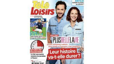 Exclu. A la une de Télé-Loisirs : l'histoire d'Estelle et Francesco, dans Plus belle la vie, va-t-elle durer ?