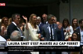 Mariage de Laura Smet : les premières images de la cérémonie à l'église