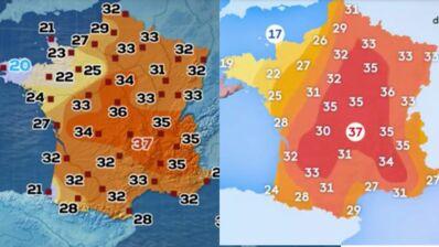 Canicule : pourquoi TF1 et France 2 n'annoncent-elles pas les mêmes températures ?