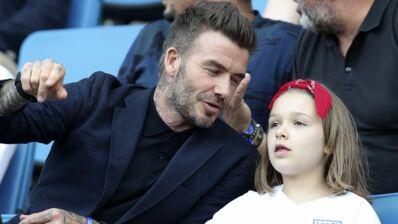 Coupe du monde féminine de football 2019 : David Beckham supporter heureux aux côtés de sa fille Harper pour la victoire de l'Angleterre (PHOTOS)