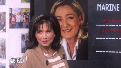 """""""Tu ne crois quand même pas que tu vas devenir présidente ?"""" : Le message cinglant d'Anne Sinclair à Marine Le Pen dans Au Tableau (VIDEO)"""