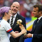"""Coupe du monde féminine de football 2019 : """"Les choses ne seront plus jamais pareilles""""... Emmanuel Macron très confiant pour l'avenir du football féminin (VIDEO)"""