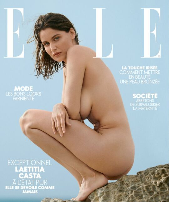 Laetitia Casta : sublime, elle pose nue en couverture du magazine Elle (PHOTO) - cinema - Télé 2 semaines