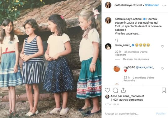 Nathalie Baye partage une photo souvenir de Laura Smet… Sa fille en pleure de rire ! (PHOTO)