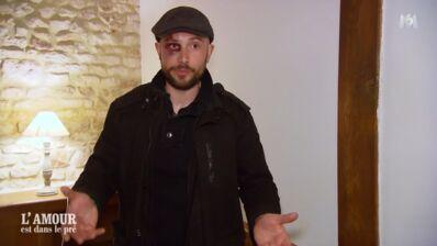 """L'amour est dans le pré 2019 : Olivier apparaît avec un énorme (et mystérieux) oeil au beurre noir, """"On en reparlera hors caméra"""" (VIDEO)"""