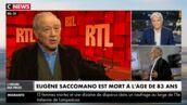 """Mort d'Eugène Saccomano : Bernard Tapie rend un hommage poignant au commentateur sportif, """"il y avait Thierry Roland, et lui !"""" (VIDEO)"""