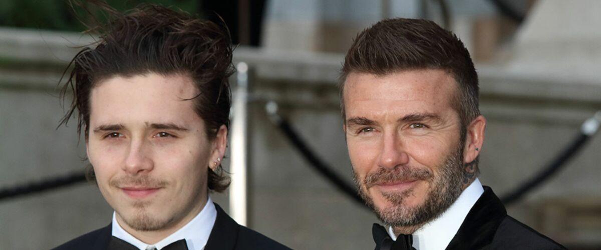 David Beckham et son fils Brooklyn, torses nus dans un bain, exhibent leurs tatouages ! (PHOTO)