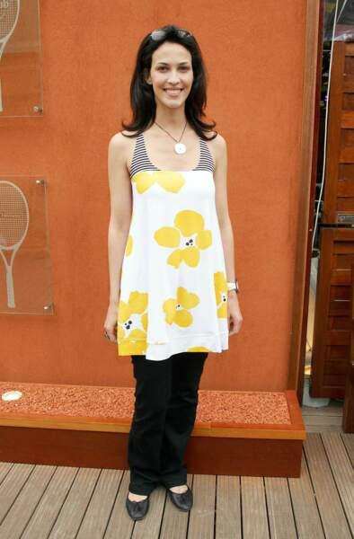 En 2007, elle se rend tout sourire à Roland-Garros