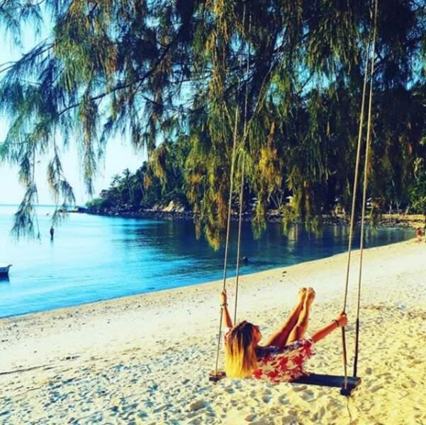 ... mais ce qu'elle aime, c'est aussi profiter de ses vacances ! Que ce soit en Thaïlande...