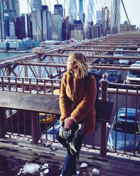 Marie est une grande voyageuse, elle a aussi visité New York !