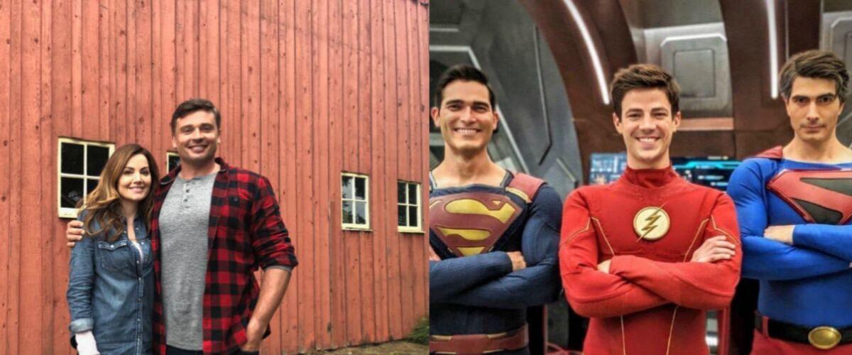 Flash avec deux Superman, Loïs Lane et Clark Kent de Smallville, Black Lightning… Toutes les photos du crossov