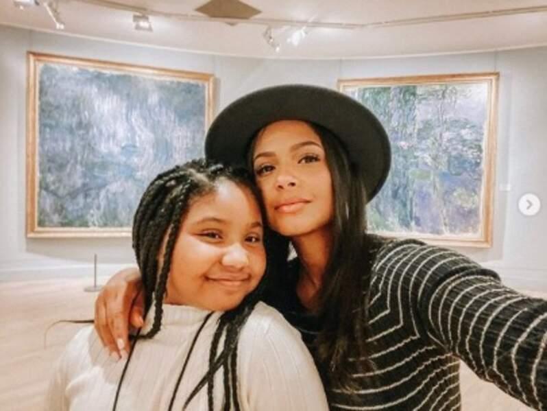 Christina Milian et sa fille Violet ont fait les touristes à Paris.