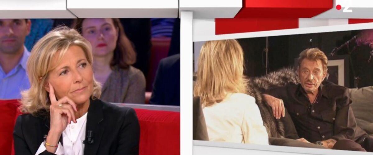 """Claire Chazal dévoile les coulisses de son interview """"bouleversante"""" de Johnny Hallyday après son coma : """"Il a"""