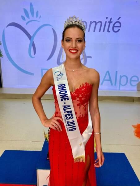 Chloé Prost a été couronnée Miss Rhône-Alpes