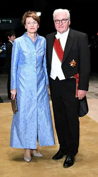 Le président allemand Frank-Walter Steinmeier et sa compagne Elke Budenbende