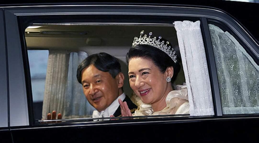 L'empereur Naruhito et son épouse, l'impératrice Masako